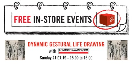 Dynamic Gestural Life Drawing Workshops tickets
