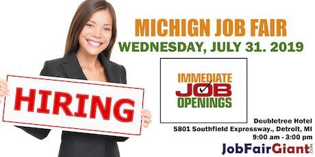 Michigan Job Expo - July 31, 2019 tickets