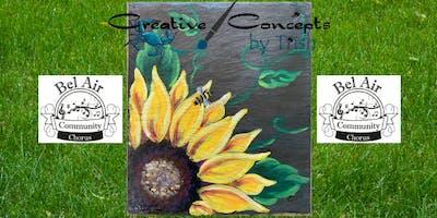 Sunflower Slate Paint Night