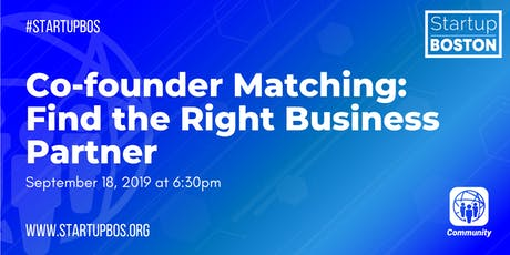 Co-founder Matching: Find the Right Business Partner tickets