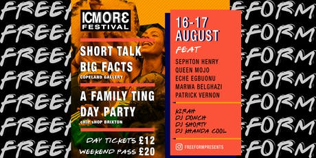 Freeform presents ICMOR3 Festival tickets