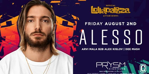OFFICIAL LOLLAPALOOZA AFTERSHOWS: ALESSO