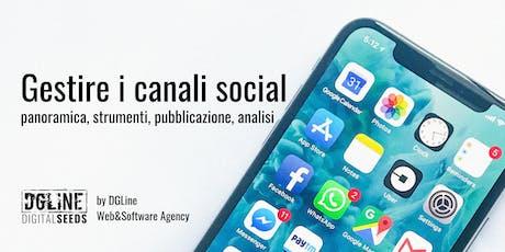 Gestire i canali social. Panoramica, strumenti, pubblicazione, analisi biglietti