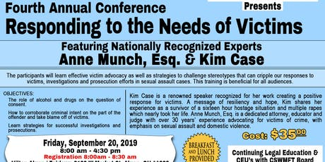 Fourth Annual Responding to the Needs of Victims Conference tickets