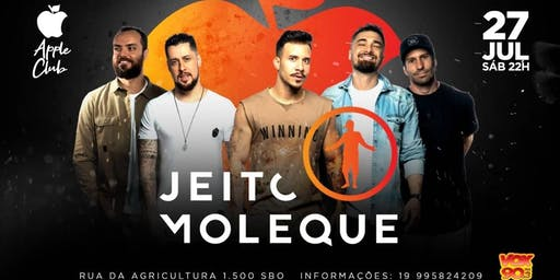 Jeito moleque ao vivo - Apple Club