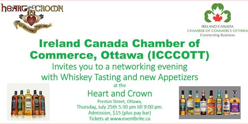 Networking and Irish Whiskey Tasting with ICCCOTT