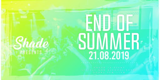 Shade Presents: End Of Summer at Tamango Nightclub | Aug 21st