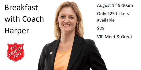 Breakfast with our new Lady Vol Head Coach, Coach Harper tickets