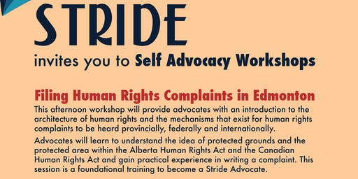 Stride Edmonton: Filing Human Rights Complaints Workshop