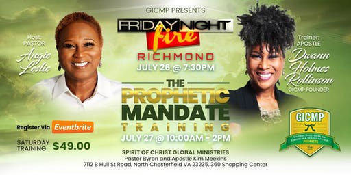 GICMP FRIDAY NIGHT FIRE & PROPHETIC MANDATE TRAINING