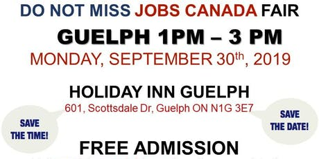 FREE: Guelph Job Fair – September 30th, 2019 tickets