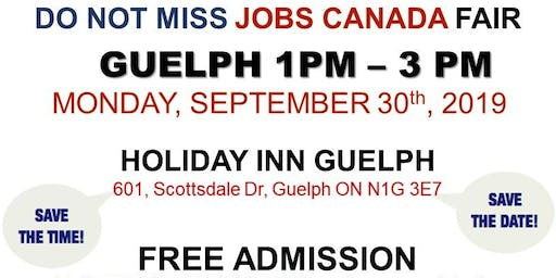 Guelph Job Fair – September 30th, 2019