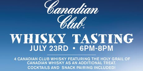 Whisky Tasting - Canadian Club  - 41 year old whisky tickets