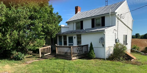 Absolute over 50K Real Estate Auction -8/8/19-2 BR house in Country Setting