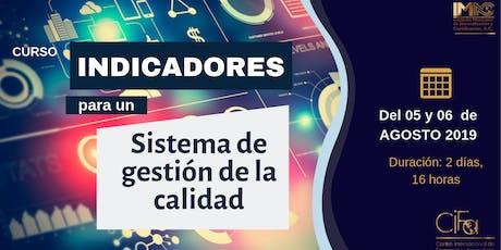 INDICADORES PARA UN SISTEMA DE GESTIÓN DE CALIDAD boletos