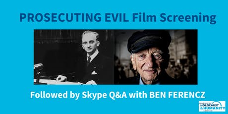 """Prosecuting Evil"" Film Screening and Discussion with Ben Ferencz tickets"