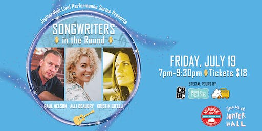Songwriters In the Round - Jupiter Hall Live! Performance Series