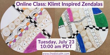 Online Class: Klimt Inspired Zendalas® tickets