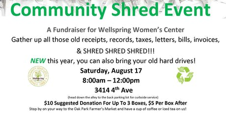 Community Shred Event tickets