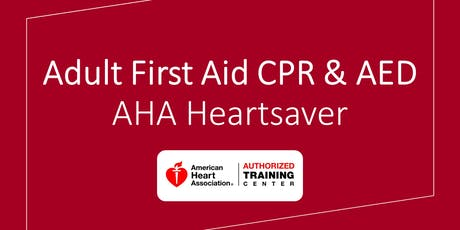 Adult First Aid CPR & AED tickets