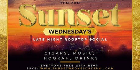 Sunset Wednesdays - Rooftop Late Happy Hour Hookah & Cigar Social tickets