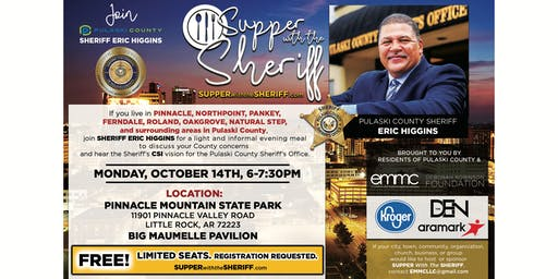 Supper with the Sheriff - PINNACLE - October 14th
