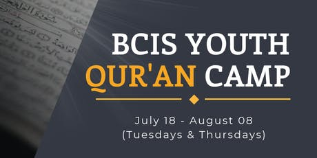 BCIS Youth Qur'an Summer Camp tickets