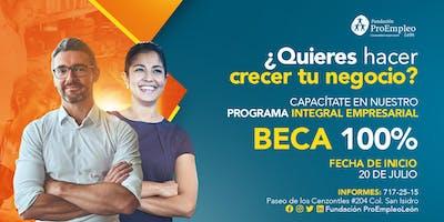 Programa Integral Empresarial FIN DE SEMANA en JULIO