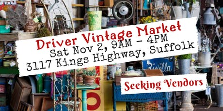 Driver Village Fall Vintage Market tickets