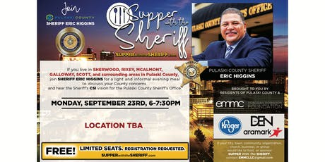 Supper with the Sheriff - SHERWOOD - September 23rd tickets