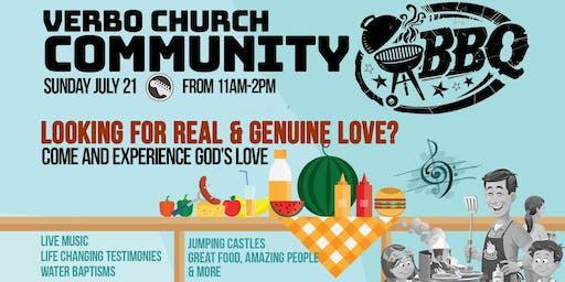 Verbo Church Free Community BBQ on July 21