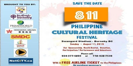 Philippine Cultural Heritage Festival tickets