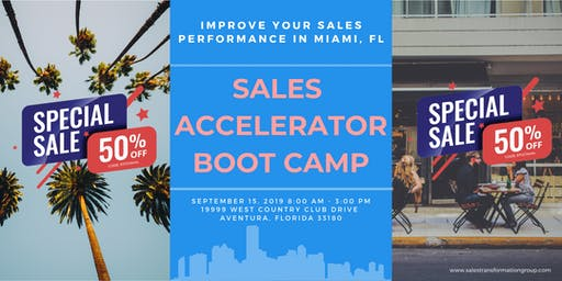Sep '19 // Miami Sales Accelerator Bootcamp with Ryan Groth (1 day)