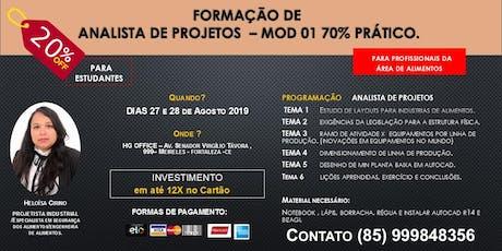 FORMAÇÃO DE ANALISTA DE PROJETOS - MOD 01 (Indústrias de Alimentos) ingressos