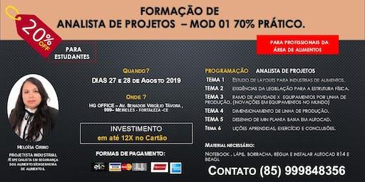 FORMAÇÃO DE ANALISTA DE PROJETOS - MOD 01 (Indústrias de Alimentos)