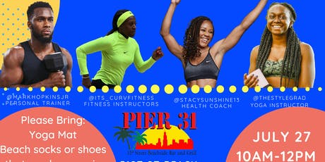 Trifecta on the Beach- One Stop Shop-  Yoga, Beach workout, and Diet tricks tickets