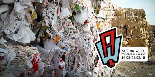 Führung in der Müllsortieranlage