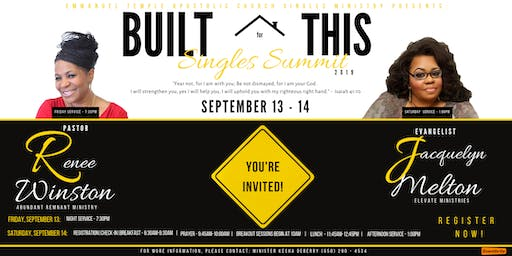 Built for This Singles Summit 2019