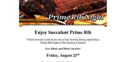 Prime Rib Night Fundraiser