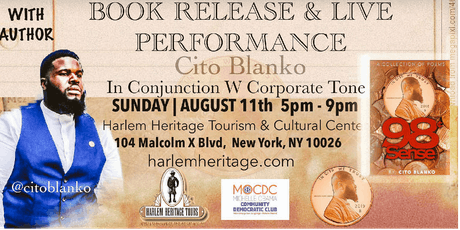 Cito Blanko Book Signing & Live Poetry Performance With Special Guest  tickets