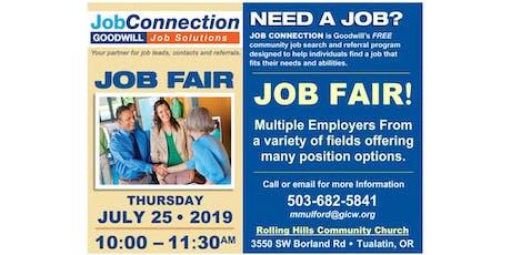 Job Fair - Tualatin - 7/25/19 tickets