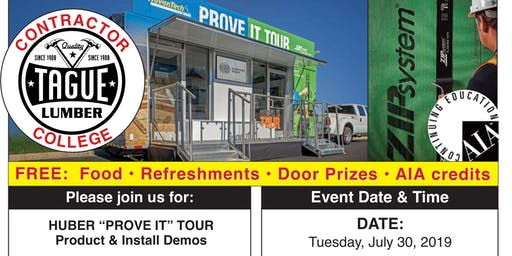 Tague Lumber Doylestown—AdvanTech/ZIP Contractor College(plus 2 AIA CEUs)