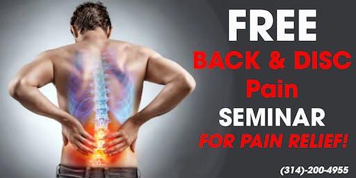 Ozzie Smith Center Back Pain Seminar - 7/17