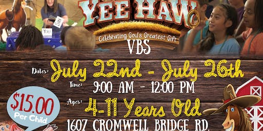 Yee-Haw Vacation Bible School 2019
