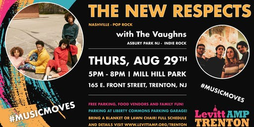 Levitt AMP Trenton Music Series: The New Respects w/ The Vaughns