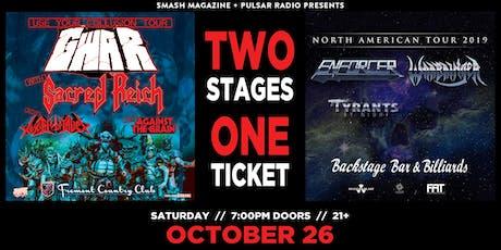 GWAR with Sacred Reich + Enforcer & Warbringer tickets