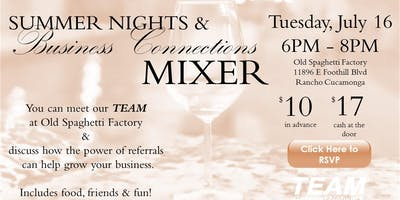Summer Night & Business Connections Mixer