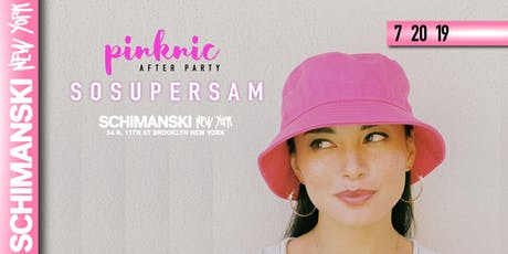 SOSUPERSAM (The Official Pinknic Afterparty) tickets