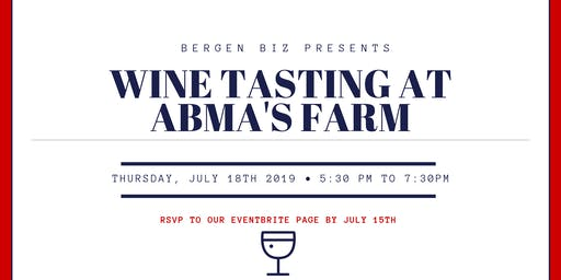Wine Tasting at Abma's Farm