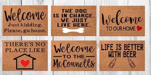 Crooked Eye Brewery Doormat Workshop